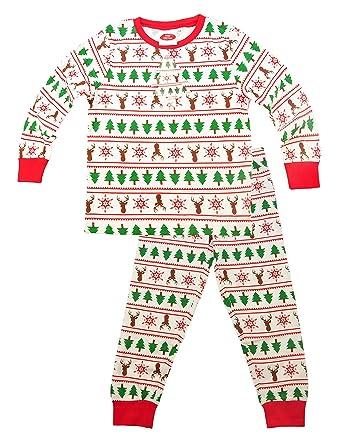 e2d8af1894 Kids Unisex Christmas Pyjamas PJs Set for Boys Girls Xmas Toddler Santa  Clothes 2 Pieces Long
