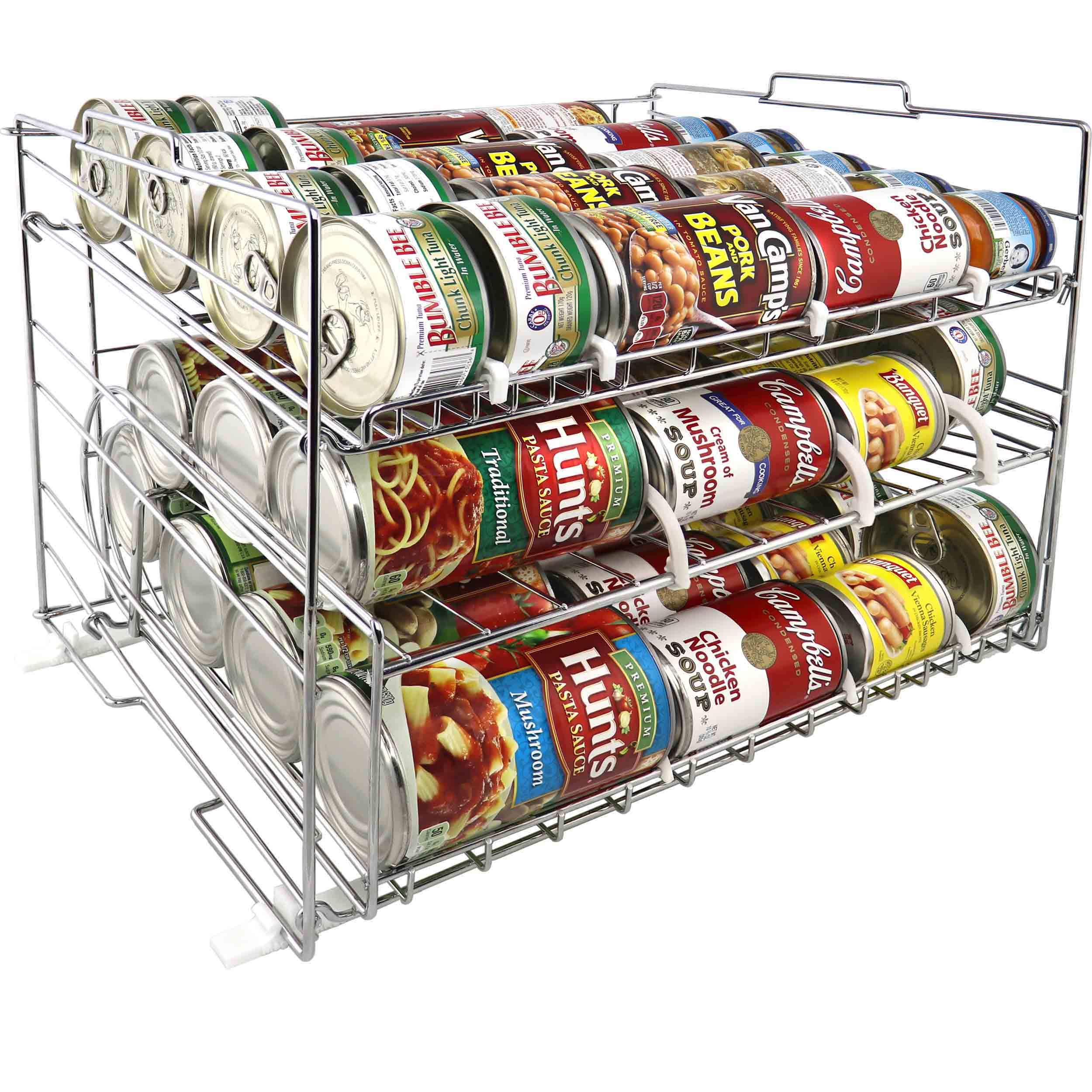 MagicCanRack 2 Unique 2018 Patent Pending Double Function Stackable Can Organizer Pantry Can Rack System, Holds More Than 50 Cans, Standard And Rotator Shelves by Spezia