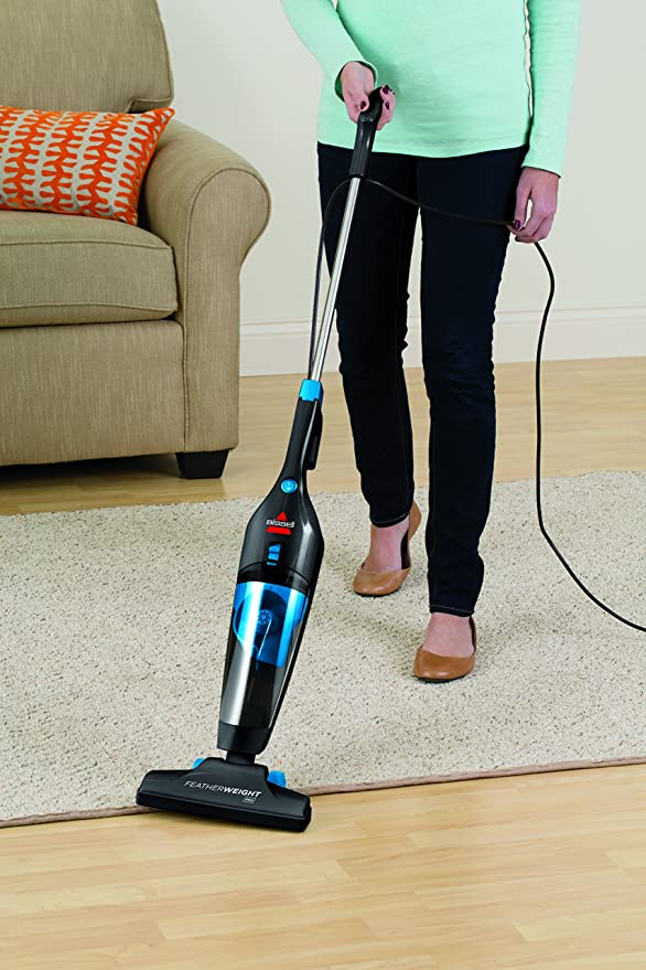 BISSELL Featherweight Pro Corded stick - Aspiradora vertical para suelos duros con aspirador de mano extraíble - clase de eficiencia energética A/ 520W: Amazon.es: Hogar