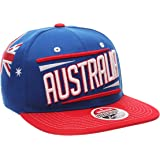 Zephyr Country Flag Soccer Victory Snapback Cap - Flat Bill, Adjustable, One Size Baseball Hat