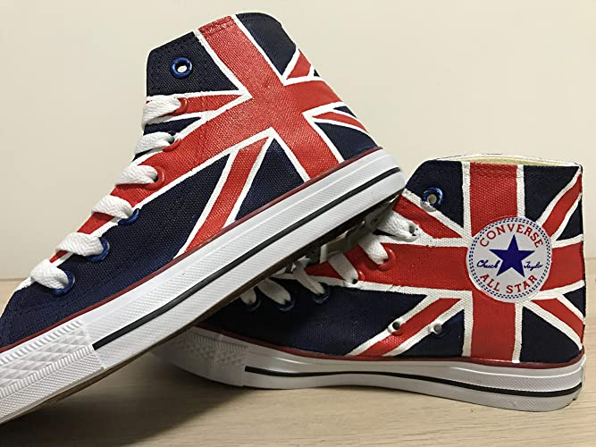 685bb0f8d5dbfe Amazon.com  Custom Chuck Taylors Shoes UK Flag Painted Shoes Sneakers Hi Tops  Customised Shoes Custom Hi Tops Painted Shoes Sneakers FREE SHPPING   Handmade