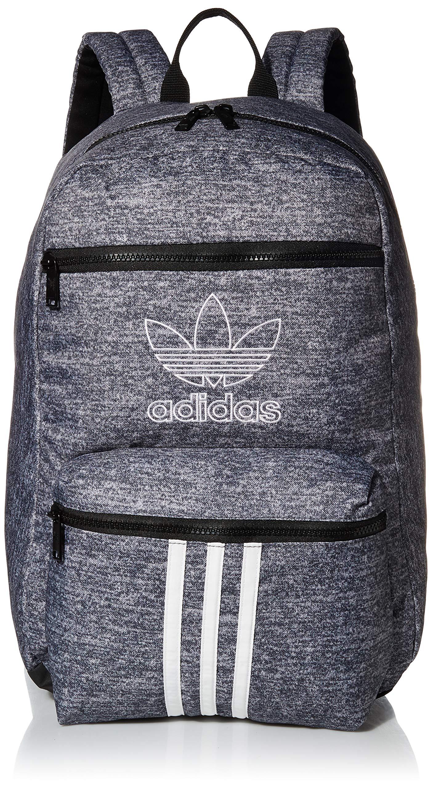 adidas Originals Unisex National 3-Stripes Backpack, Onix Jersey/Black, ONE SIZE by adidas Originals