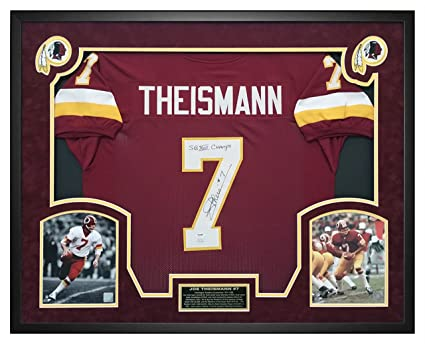 Top Joe Theismann Washington Redskins Autographed Jersey Custom Framed  for cheap