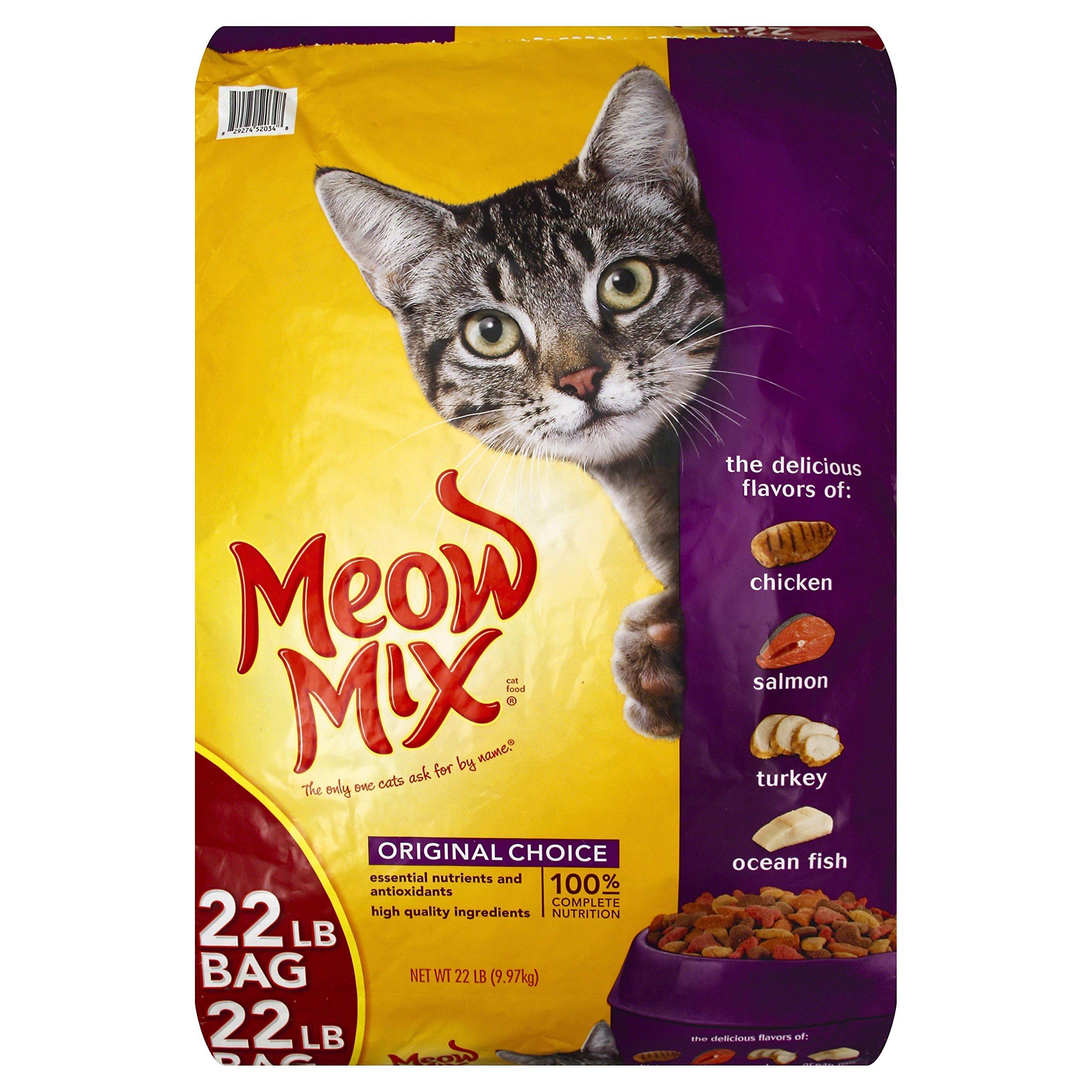 Meow Mix Original Choice Dry Cat Food, 22 lb