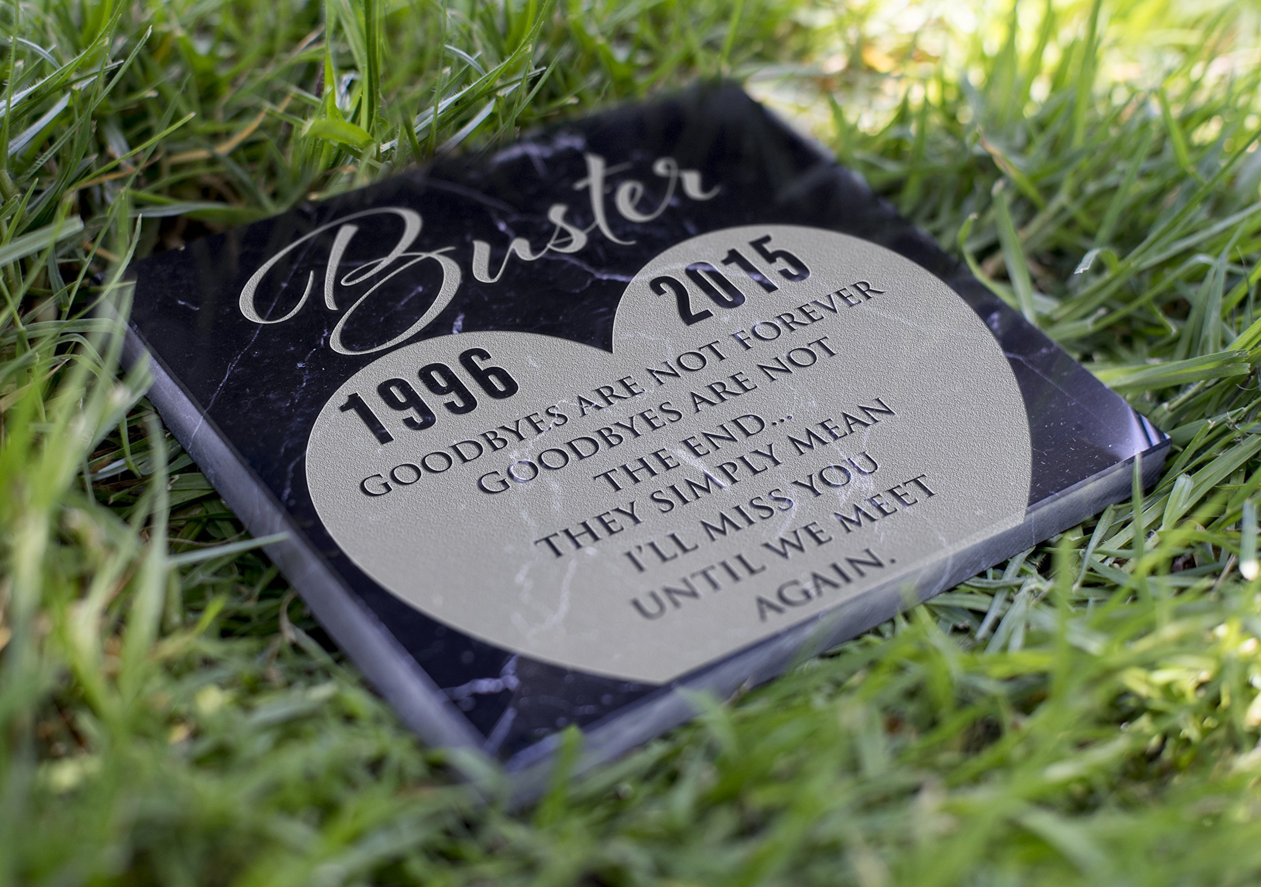 Memorial Pet Headstone - Until We Meet Again - D8