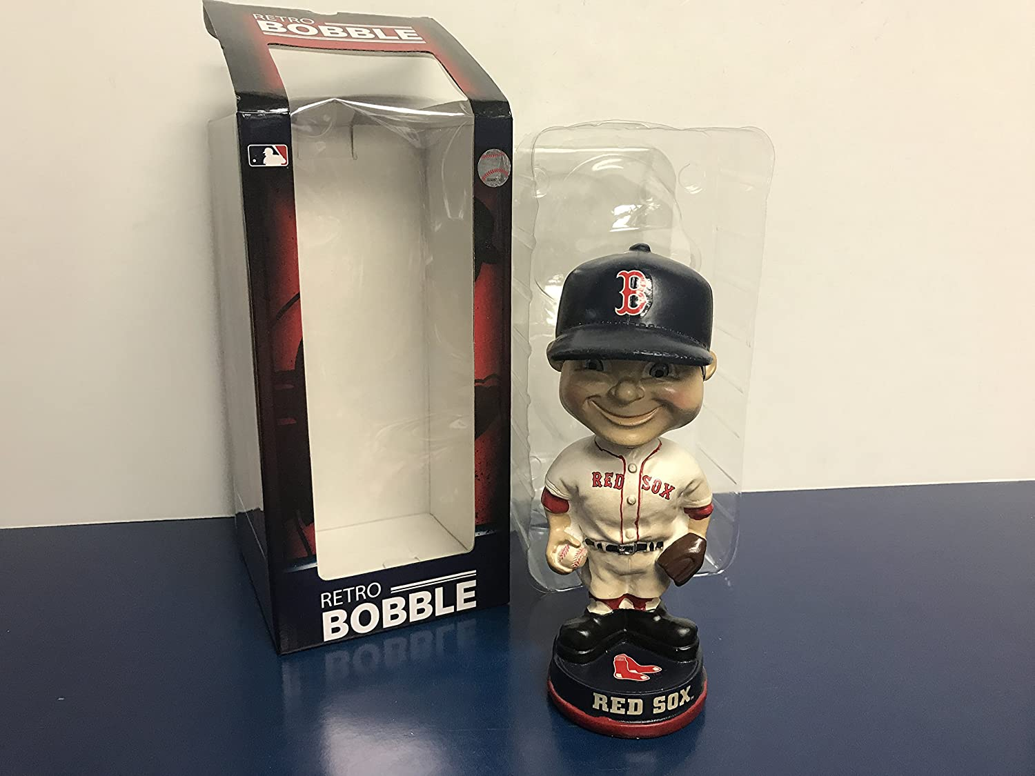 Boston Red Sox RETRO Boy Face Bobble Bobblehead MLB Baseball
