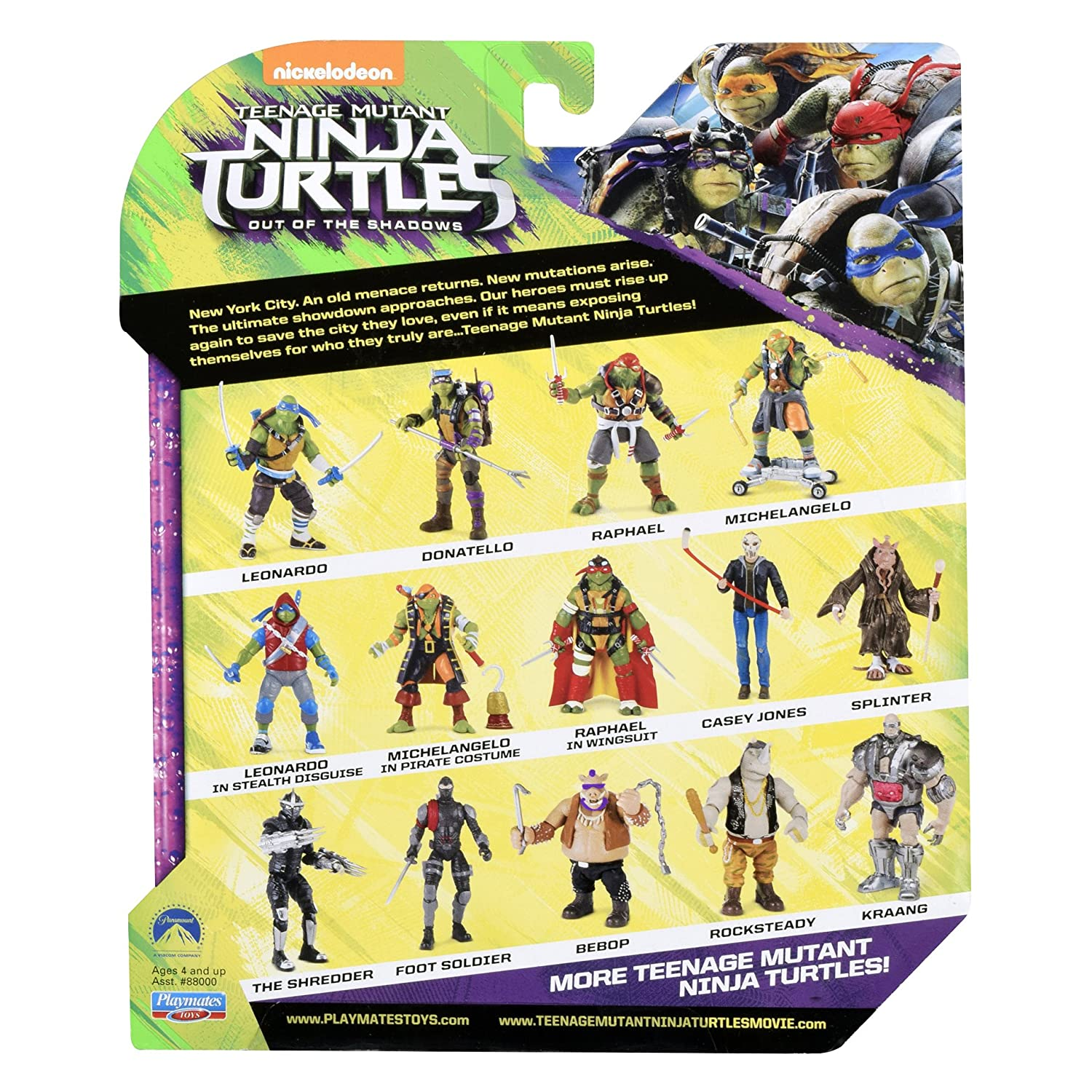 Toys 88008 Teenage Mutant Ninja Turtles Movie 2 Out Of The Shadows Raphael In Wingsuit Figure Playmates