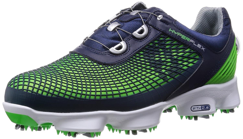 [フットジョイ] FootJoy ゴルフシューズ HYPERFLEXBoa B00U88DDMQ 26.5 cm 2E ネイビー/グリーン