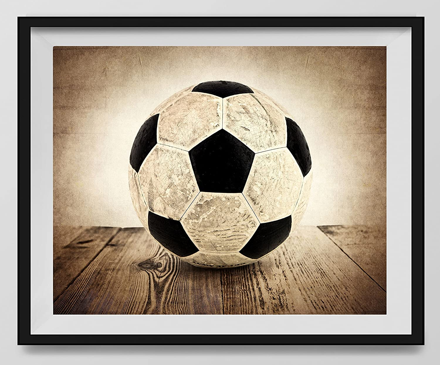 Vintage Soccer Ball On Vintage Background Fine Art Photography Print Sports Decor Soccer Nursery Decor Man Cave Art Vintage Sports Nursery Art