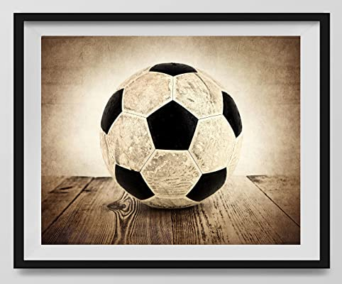 Vintage Soccer Ball on Vintage Background Fine Art Photography Print, Sports Decor, Soccer Nursery decor, Man Cave art, Vintage Sports Nursery Art, Soccer artwork, Soccer Prints, Kids Room Wall Art.