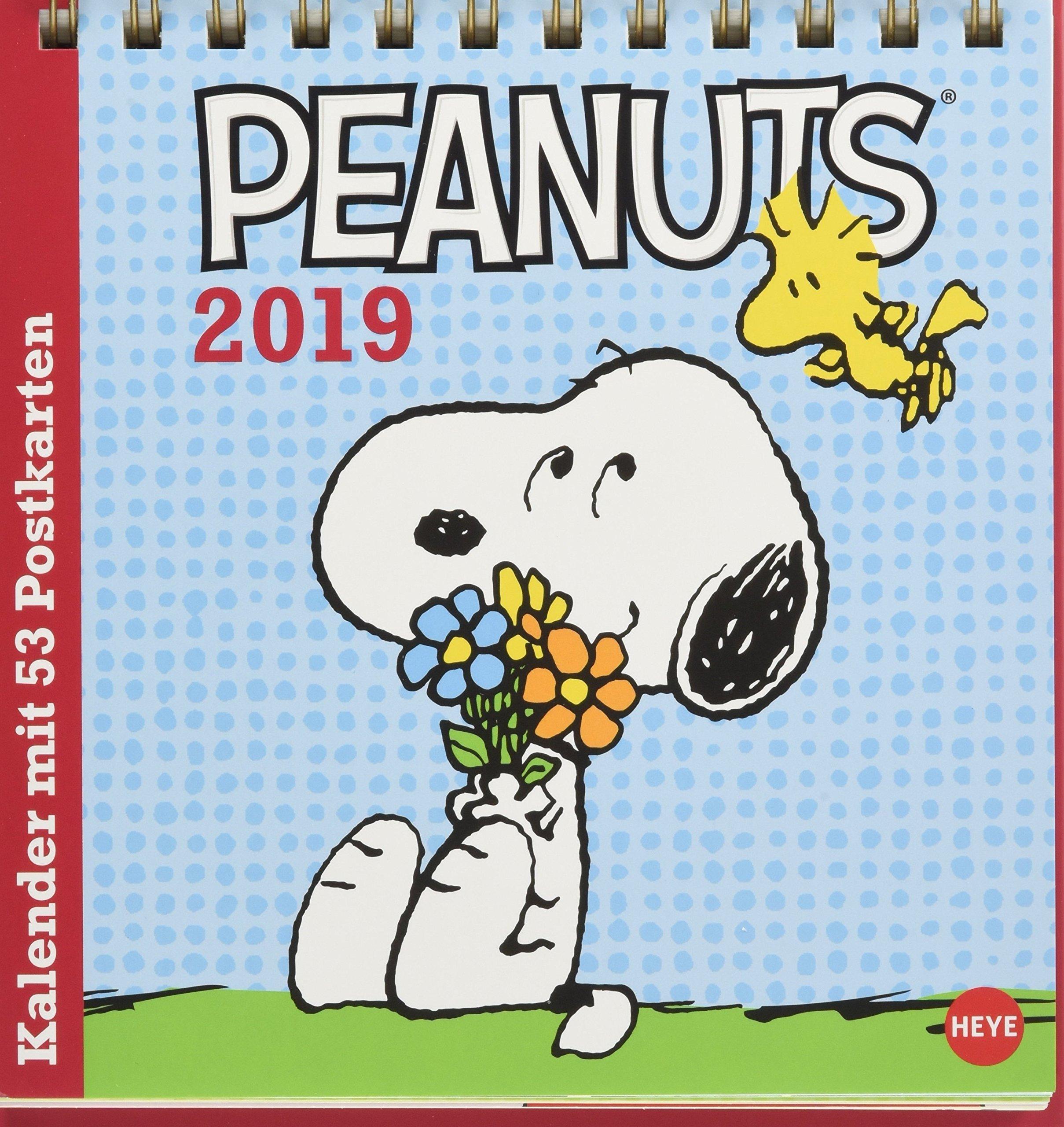 Peanuts Aufstell-Postkartenkalender - Kalender 2019: Amazon ...