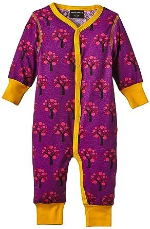 56eb92441390 Maxomorra Unisex Baby AU5A-M093 Button Long Sleeve Floral Romper ...