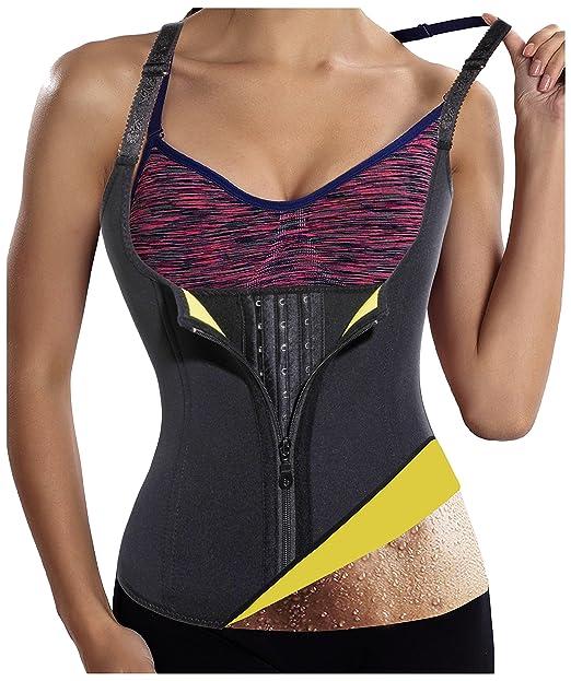 76bd7b0c09 Gotoly Womens Hot Sweat Body Shaper Sauna Tank Top Tummy Fat Burner  Slimming (Black