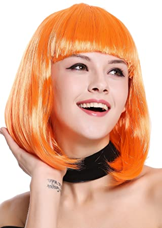 WIG ME UP ® - 0073-3-PC24 Peluca Mujer Carnaval Halloween Disco Party
