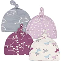 Grow by Gerber Baby Girls Organic 4-Pack Caps