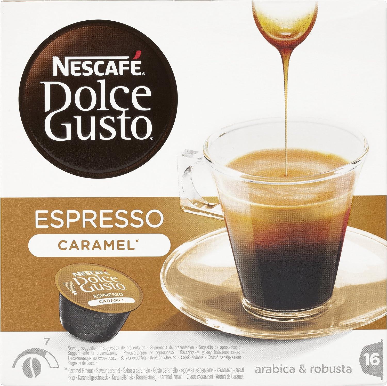 Nescafé Dolce Gusto Cápsulas de Café Espresso Caramel - 16 ...