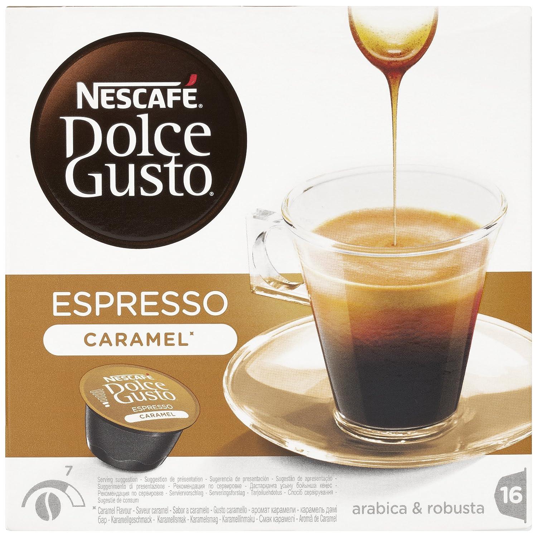 NESCAFÉ Dolce Gusto Café Espresso Caramel | Pack de 16 Cápsulas: Amazon.es: Amazon Pantry
