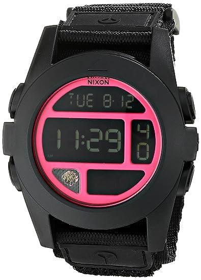 NIXON RELOJ DE HOMBRE CUARZO 50MM DIGITAL CORREA DE NYLON COLOR NEGRO A489480: Amazon.es: Relojes
