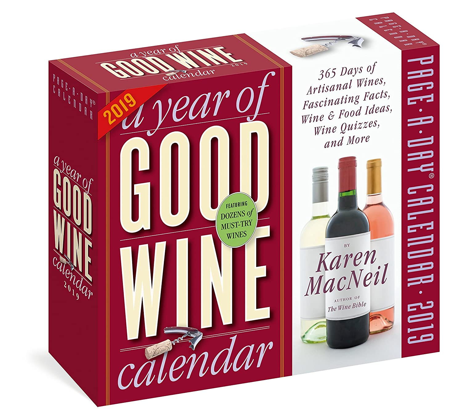 Year of Good Wine Page-A-Day Calendar 2019 Karen MacNeil Workman Publishing Company 1523503173 COOKING / Entertaining