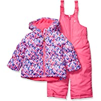 Osh Kosh Girls' Toddler Ski Jacket and Snowbib Snowsuit Outfit Set
