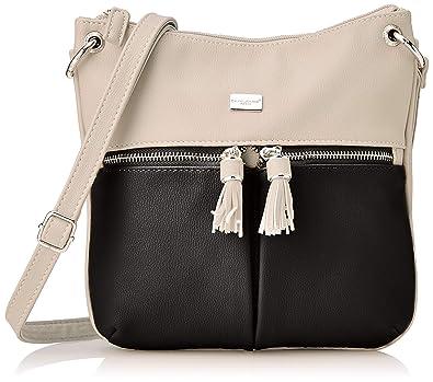 18126da2179d David Jones 5908-2, Women's Cross-Body Bag, Black, 5x23x20 cm (W x ...