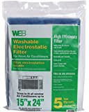 WEB Room Air Conditioner Filter 15x24 Cut to Fit
