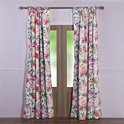 Pair Of Fushia Curtains Available In Various Designs And Specifications For Your Selection Curtains, Drapes & Valances