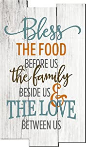 MRC Wood Products Bless The Food Before Us Rustic Wall Sign 11x18