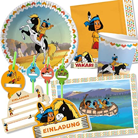 108 Juego de set de fiesta * indios Yakari * para fiestas de ...