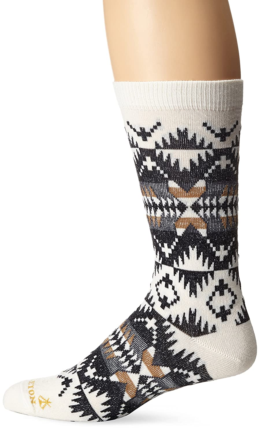 Pendleton Men's Spider Rock Crew Socks, Grey, Large(9-12) McCubbin Hoisery 6437-M