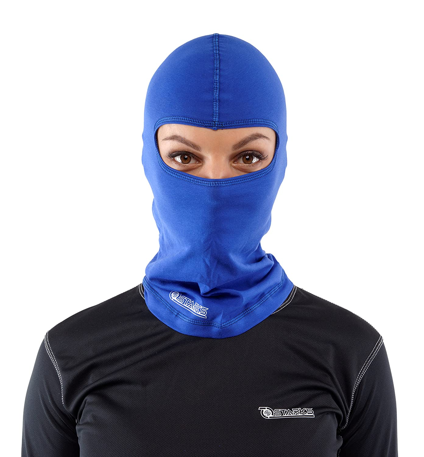 Starks Sturmhaube Motorrad Sommer Balaclava Herren Fahrrad Sturmmaske | 90% Baumwolle Quick Dry, Protect from Dust Sun Wind | Ideal for Summer Extreme Sport Rad Motorcycle Bike Outdoor Blau One Size MP0003.5
