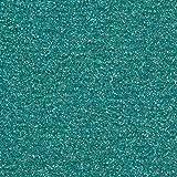 Siser Glitter Heat Transfer Vinyl HTV for T-Shirts 10 by 12 Inches (1 Foot) 3 Precut Sheets (Mermaid Blue)