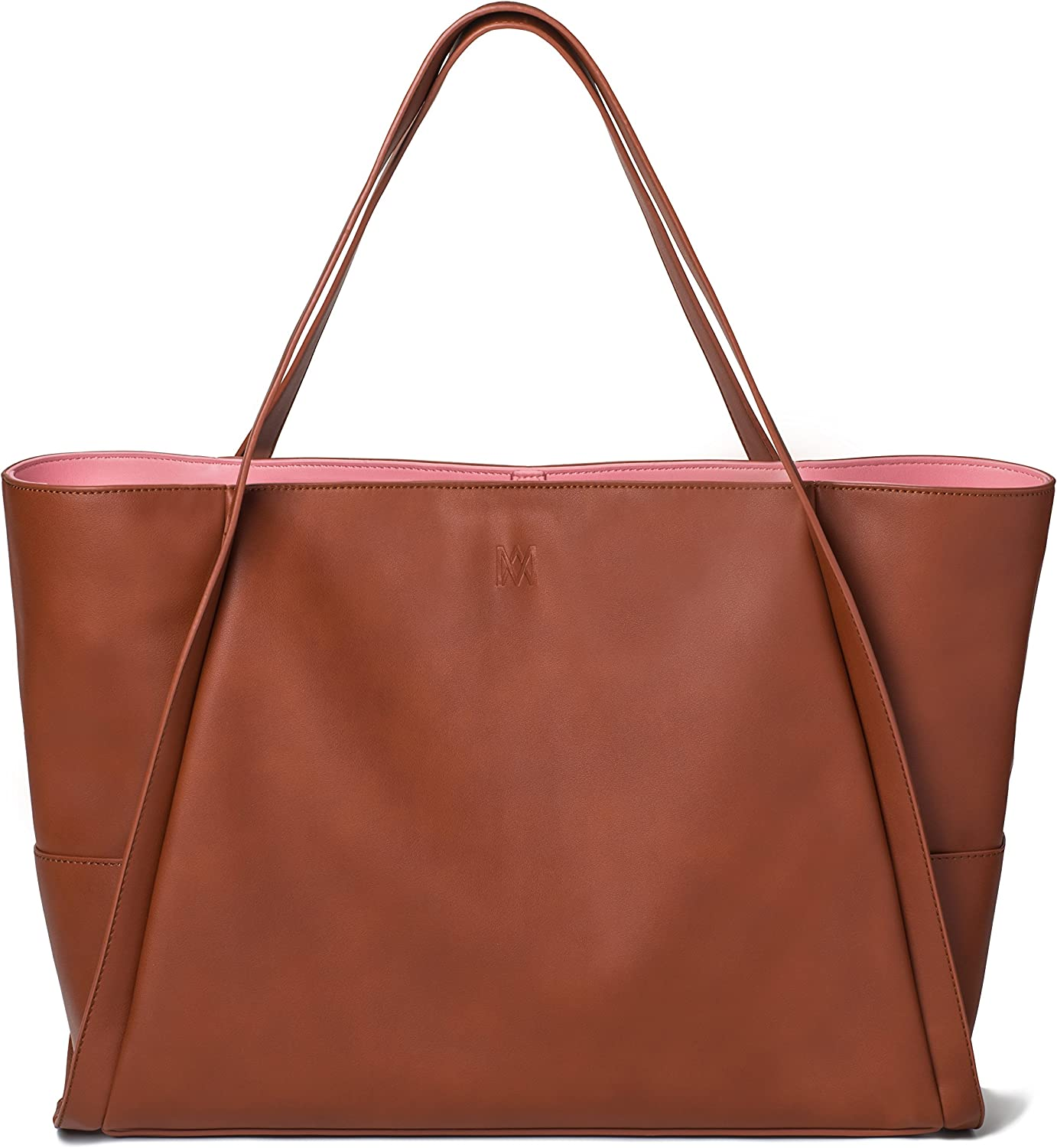 Marsi Bond Vegan Extra Large Carry All Tote- Fashionable Smooth Faux leather Shoulder Bag