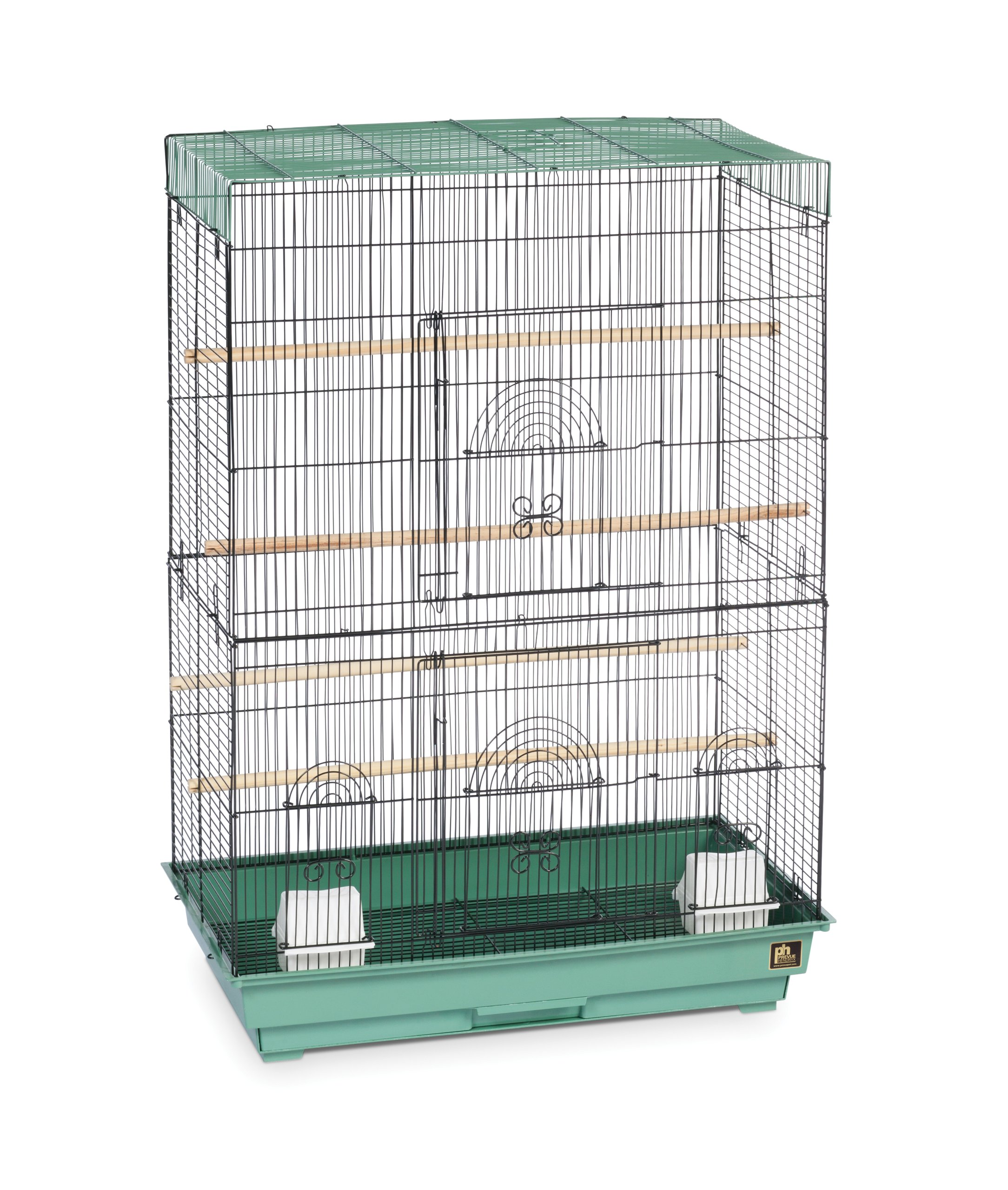 Prevue Hendryx Flight Cage, Green and Black by Prevue Hendryx