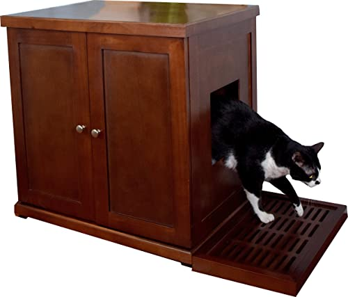 Electric Litter Boxes Such As Scoop Free Can Be Adequately Housed Here. It  Is Quite Easy To Assemble Too.