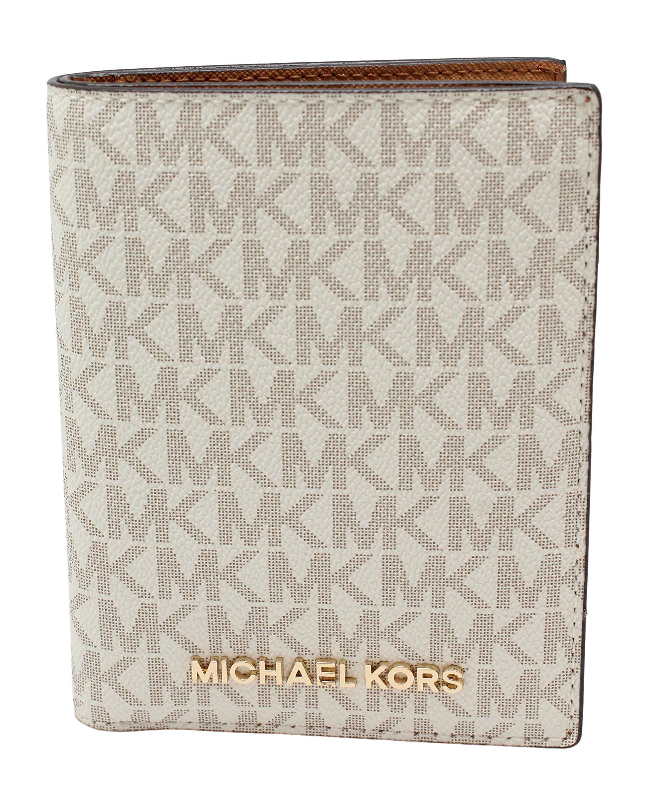 Michael Kors Jet Set Travel Passport Holder Wallet Case Vanilla PVC 2019 by Michael Kors