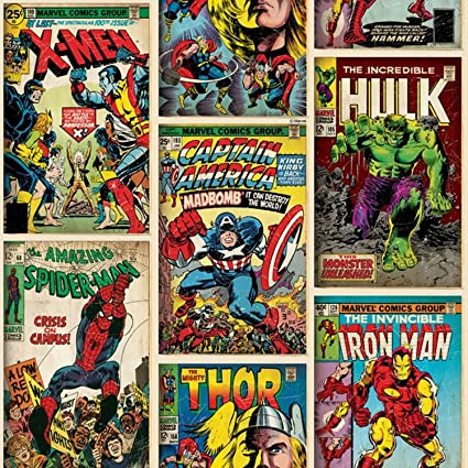 Amazon Graham Brown Marvel Comics Action Heroes Wallpaper 52cm X 10m From Toys Games