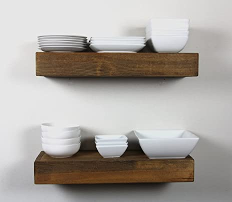 Thick Floating Wall Shelves