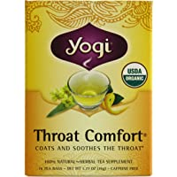 YOGI TEA Throat Comfort, 36 Grams, 16 Tea Bags