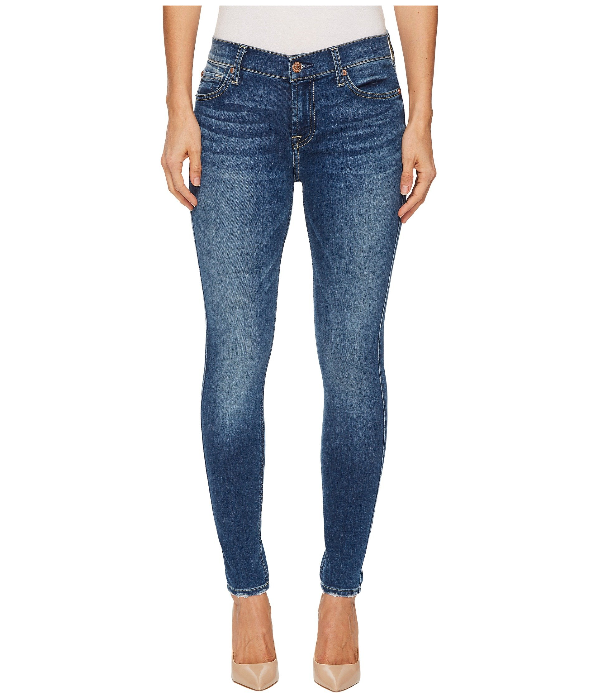 7 For All Mankind Women's Ankle Skinny Jean with Extreme Grinded Hem, BELLAHRTG3, 25