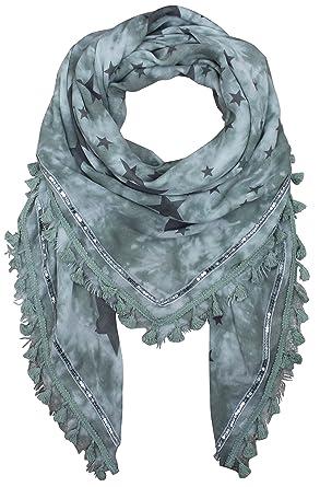 c7ba10fd0b17 XXL Femme étoile rideau avec pompons paillettes écharpe Couverture Patches  Bandana Fashion - Vert - Taille