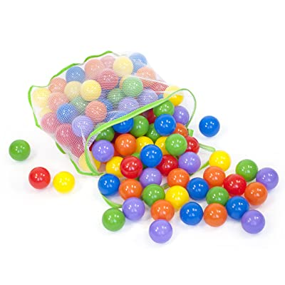 100 Colorful Wonder Playballs Safe & Non-Toxic w/Storage Tote