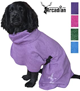 Arcadian Dog Bathrobes. Perfect Microfibre Towelling Robe for Drying Coats 22d678501