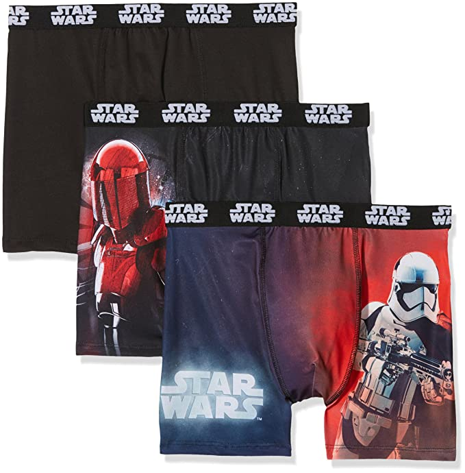 Star Wars Boxer, Shorts para Hombre, 3D2, Small(Pack de 3)