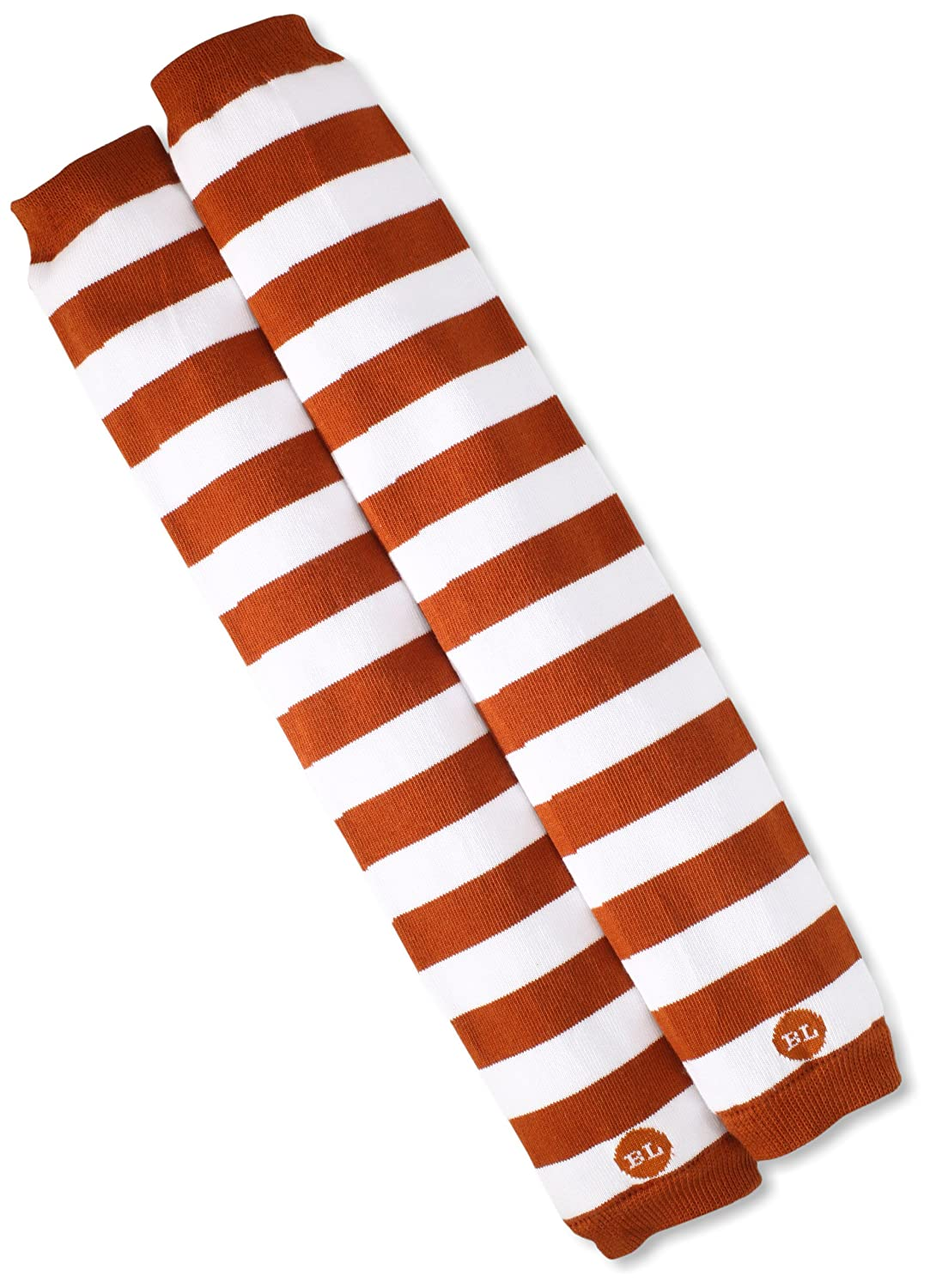 BabyLegs Unisex-Baby Infant Leg Warmers, Burnt Orange/White, One Size BL12-0135