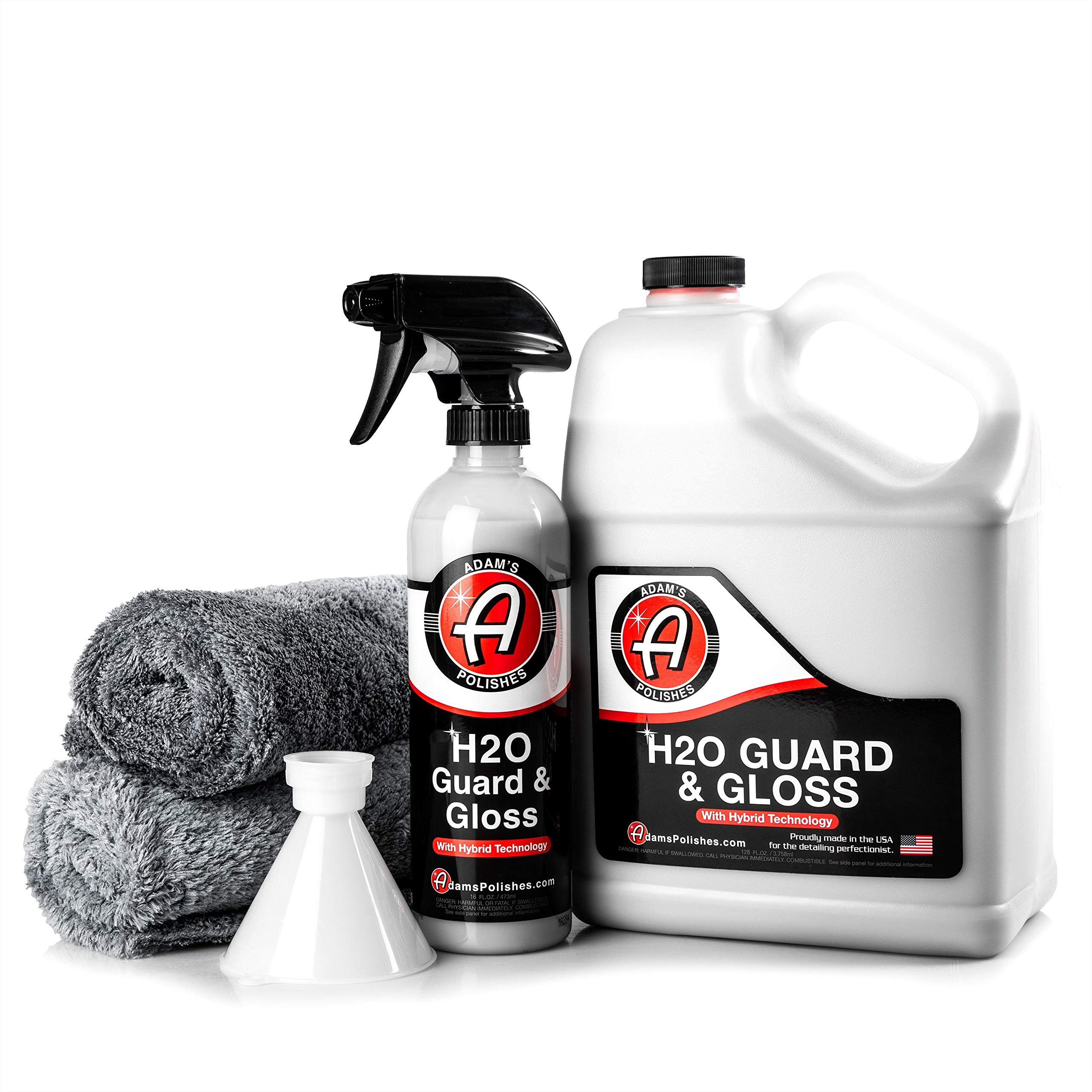 Adam's H2O Guard & Gloss - Revolutionary Hybrid Top Coat Technology Combines Silica Sealant, Polish Wax, and Quick Detailer Technology - Seals, Shines, and Protects All Exterior Surfaces (Collection)