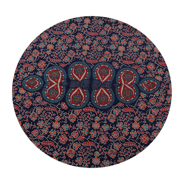 Shubhlaxmifashion 32 Blue Mandala Floor Pillow Cushion Seating Throw Cover Hippie Decorative Bohemian Ottoman Poufs Pom Pom Pillow Cases,Boho Indian SHDP01
