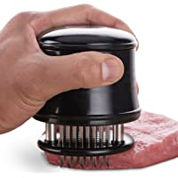 MERCIER Professional Needle Meat Tenderizer - 56 Stainless Steel Blades - For Steak, Chicken, Fish and Pork + Cleaning Brush