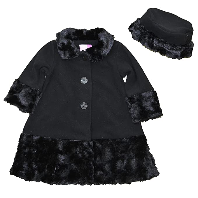 b467be4c56be Amazon.com  Good Lad Toddler Girls Fleece Coat with Fur Trim ...