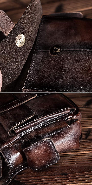 913-5 A marr/ón Leaokuu Hombres bolsa t/áctica bolsa de escalada Bolsa de cadera Cintur/ón bolso Cintur/ón Fanny Paquete de cintura Bolsa de pierna ca/ída Bolso mensajero de cuero 913-5